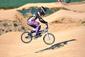 Pictures Bike Uniform Jump Helmet athletic