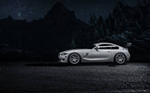 Image BMW Side Silver color Night Z4M Cars