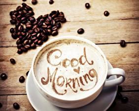 Fotos Kaffee Cappuccino Tasse Getreide Herz Lebensmittel
