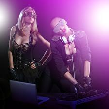 Pictures Two Glamour DJ deejay Music Girls