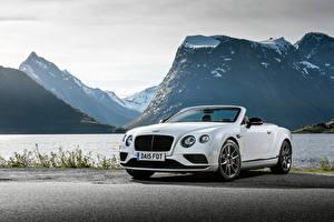Fotos Berg Bentley Weiß Cabrio 2015 Continental GT V8 S Convertible Autos