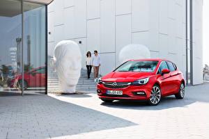 Hintergrundbilder Opel Rot 2015 Astra K Autos