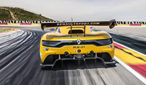 Papel de Parede Desktop Renault De volta Amarelo 2014 Sport RS 01 automóveis