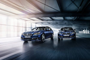Pictures BMW Two Blue Sedan Alpina 5-Series Sedan F10 Cars