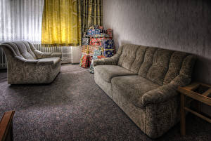 Image Couch Room HDR Wing chair