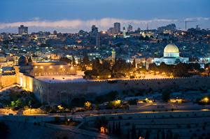 Bilder Israel Haus Tempel Nacht Jerusalem