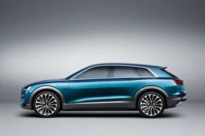 Bilder Audi Seitlich 2015 e-tron quattro Autos