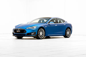 Fotos Tesla Motors Brabus Blau 2015 Brabus Model S,