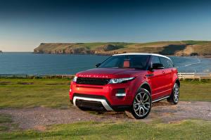 Papel de Parede Desktop Land Rover Costa Vermelho 2011 Range Rover Evoque Prestige automóvel