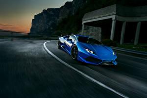 Image Lamborghini Blue Novitec Torado Huracan Cars