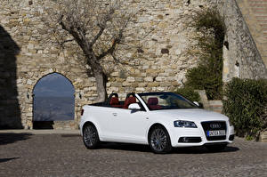 Images Audi White Convertible 2008-10 A3 2. 0T S-Line Cabriolet (8PA) Cars