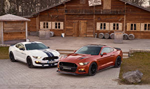 Wallpaper Ford 2 Geiger Mustang auto