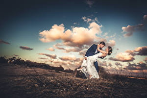 Wallpapers Sky Couples in love Men Clouds female