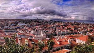 Tapety na pulpit Portugalia Budynek Lizbona Megapolis Miasto