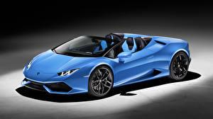 Hintergrundbilder Lamborghini Cabrio Hellblau huracan lp610-4