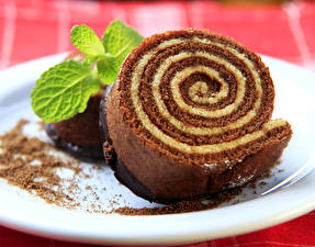 Fotos Süßware Törtchen Roulade