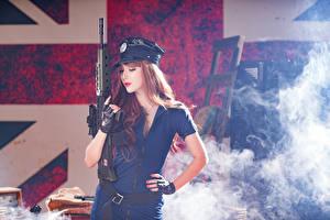 Hintergrundbilder Asiaten Sturmgewehr Braunhaarige Der Hut Rauch Heer