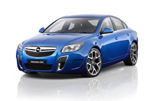 Bilder Opel Blau Weißer hintergrund 2013 Insignia OPC