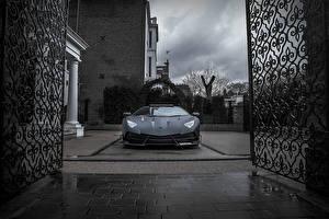 Hintergrundbilder Lamborghini Schwarz Mansory Aventador