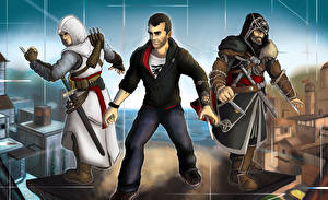 Photo Assassin's Creed 3 Men Three 3 vdeo game
