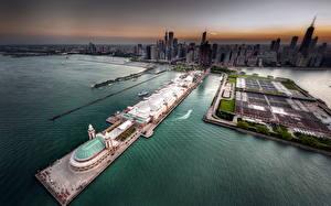 Fotos Küste Vereinigte Staaten Von oben Chicago Stadt Städte