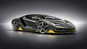 Hintergrundbilder Lamborghini Grau Centenario