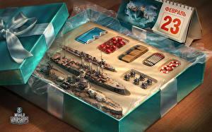 Papel de Parede Desktop World Of Warship Defender of the Day Pátria Navios Brinquedo videojogo Exército