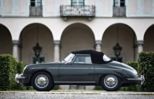 Fotos Porsche Retro Graue Seitlich Roadster 1959-61 356B 1600 S Roadster by D'ieteren Freres Autos