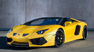 Photo Lamborghini Yellow Aventador LP700-4