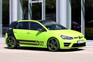 Wallpapers Volkswagen Tuning Lime color 2015 ABT Golf R400 (Typ 5G) automobile