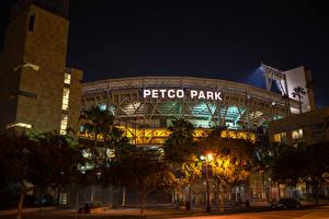 Fotos Vereinigte Staaten San Diego Stadtstraße Nacht Bäume Petco Park