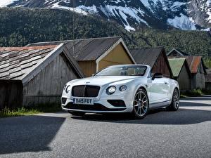 Hintergrundbilder Bentley Cabrio Weiß 2015 Continental GT V8 S Convertible Autos
