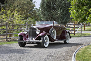 Fotos Antik Metallisch Cabriolet Roadster 1932 Packard Light Eight Coupe Roadster