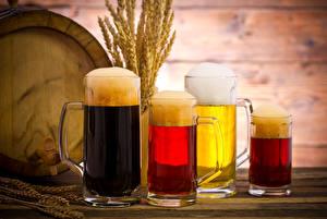 Hintergrundbilder Getränke Bier Becher Schaum Spitze Vier 4 das Essen