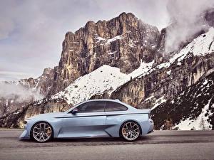 デスクトップの壁紙、、BMW、側面図、岩石、2016 BMW 2002 Hommage Concept、自動車