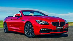 Image BMW Red Convertible 2015 6-Series 640i Cabrio AU-spec automobile
