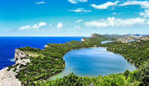 Picture Croatia Landscape photography Lake Sky Coast Savar Nature