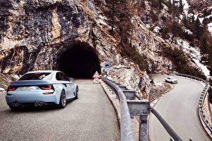 Bureaubladachtergronden Weg BMW klif landform Grotten Auto
