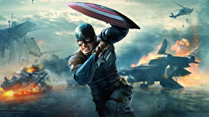 Photo Captain America hero Men Heroes comics Captain America: The Winter Soldier Shield Steve Rogers film