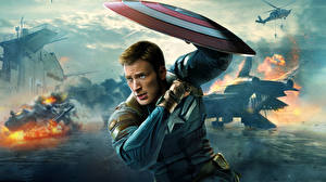 Photo Captain America hero Superheroes Man Chris Evans Captain America: The Winter Soldier Shield Steve Rogers