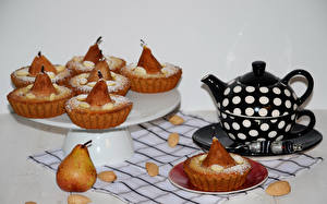 Hintergrundbilder Backware Pfeifkessel Birnen Muffin