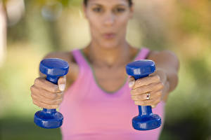 Wallpaper Fitness Dumbbells Hands Sport Girls