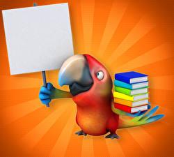 Fonds d'écran Oiseau Perroquet Livres Bec 3D Graphiques Animaux