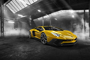 Wallpapers Lamborghini Yellow Novitec Torado Aventador LP 750-4 Cars