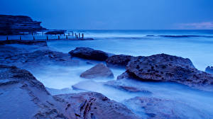 Bilder Australien Meer Küste Sydney Maroubra Natur