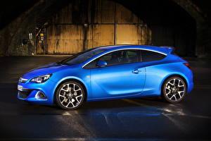 Fotos Opel Blau Seitlich 2011 Astra OPC