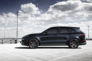 Pictures Porsche Black Side Clouds 2015 TopCar Cayenne auto