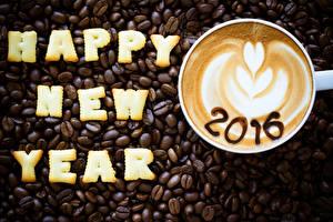 Hintergrundbilder Kaffee Neujahr Cappuccino Getreide Tasse 2016 Lebensmittel