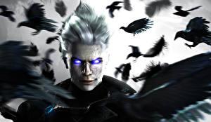 Papel de Parede Desktop Devil May Cry Corvos Ver Vergil, Capcom 3D_Gráfica