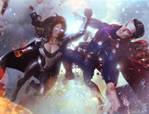 Bakgrunnsbilder Slaget Supermann helten To 2 Synestra Unge_kvinner